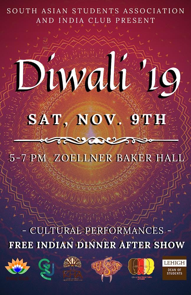 Diwali November 9th Event Flyer