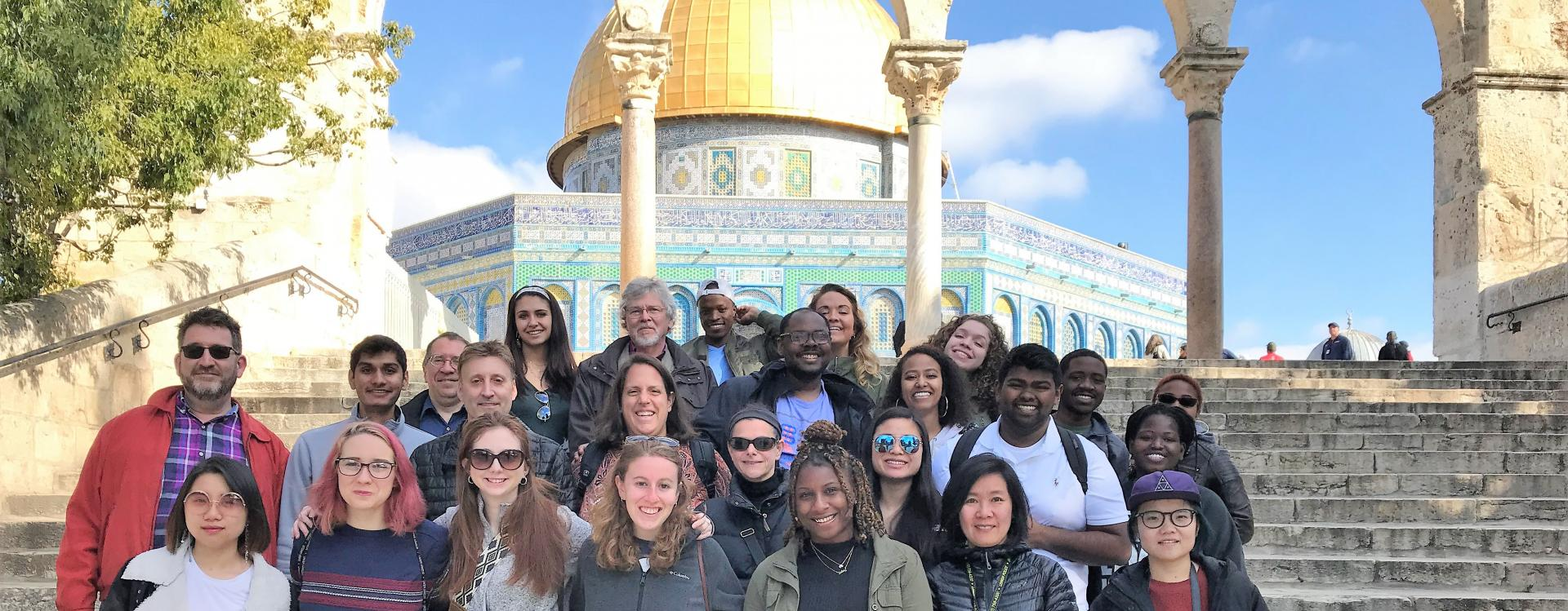 2019 Trip to Israel-Palestine Travelers at Dome of The Rock